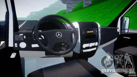 Mercedes-Benz Sprinter Euro 2012 для GTA 4 вид справа