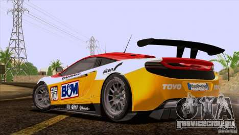 McLaren MP4-12C Speedhunters Edition для GTA San Andreas салон