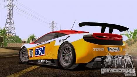 McLaren MP4-12C Speedhunters Edition для GTA San Andreas салон