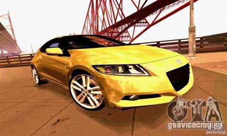 Honda CR-Z 2010 V2.0 для GTA San Andreas вид сверху