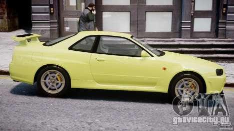 Nissan Skyline R-34 V-spec для GTA 4 вид снизу