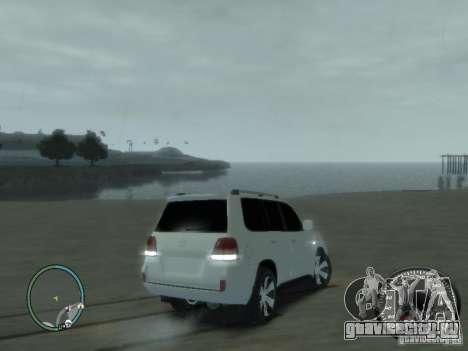 Toyota Land Cruiser 200 FINAL для GTA 4 вид сзади