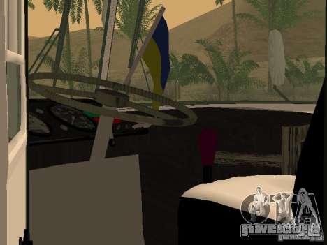 ЛАЗ 695 для GTA San Andreas вид изнутри
