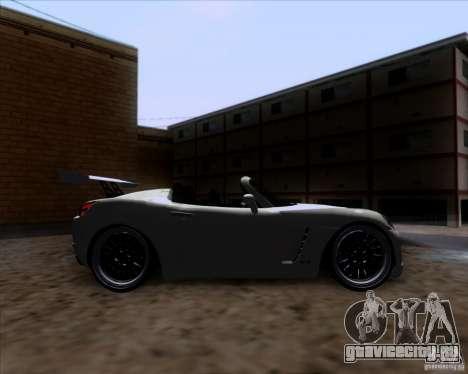 Saturn Sky Roadster для GTA San Andreas вид изнутри
