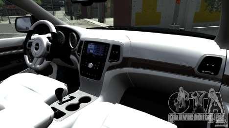 Jeep Grand Cherokee STR8 2012 для GTA 4 вид изнутри