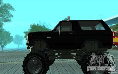Ford Bronco Monster Truck 1985 для GTA San Andreas вид сзади слева