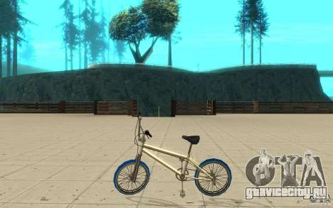 Zeros BMX BLUE tires для GTA San Andreas вид слева
