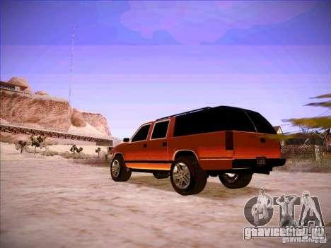 Chevrolet Suburban 1998 для GTA San Andreas вид сзади слева
