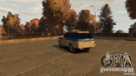 Land Rover Range Rover Police для GTA 4 вид слева