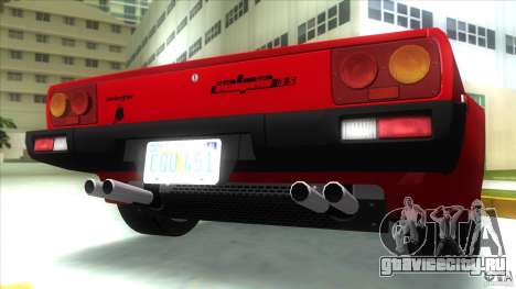 Lamborghini Jalpa P350 1984 для GTA Vice City вид изнутри