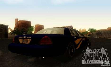 Ford Crown Victoria Orgeon Police для GTA San Andreas вид слева