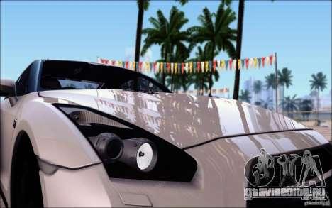 Nissan GTR Egoist 2011 (Версия с грязью) для GTA San Andreas вид сверху
