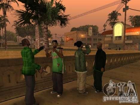 Новые скины банды Grove Street для GTA San Andreas третий скриншот
