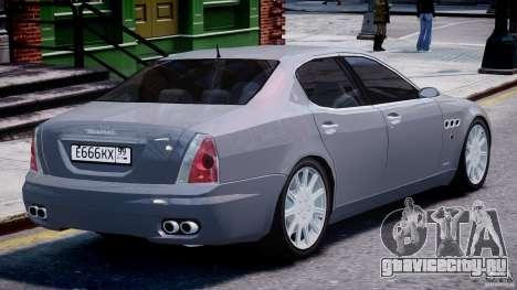Maserati Quattroporte V для GTA 4 двигатель
