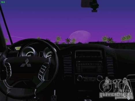 Mitsubishi Montero для GTA San Andreas вид изнутри