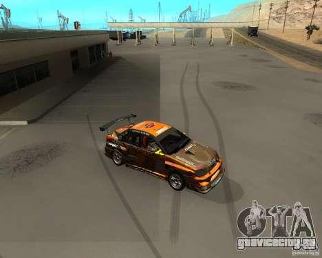 Subaru Impreza WRX Team Orange DRIFT SA-MP для GTA San Andreas вид слева