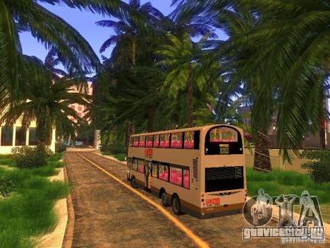Volvo B10TL from Hong Kong для GTA San Andreas вид справа