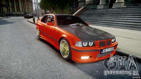 BMW E36 Alpina B8 для GTA 4 вид изнутри