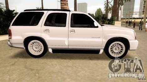 Cadillac Escalade для GTA Vice City вид слева