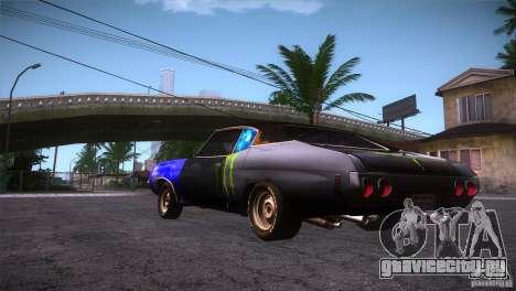 Chevrolet Chevelle SS DC для GTA San Andreas вид сзади слева