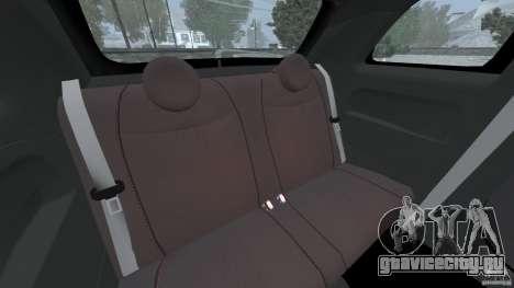 Fiat 500 Abarth для GTA 4 вид сбоку