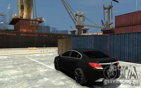 Opel Insignia OPC BETA для GTA 4 вид сзади слева