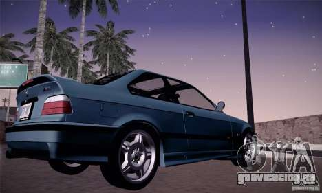 BMW E36 M3 Coupe - Stock для GTA San Andreas вид справа