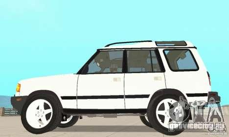 Land Rover Discovery 2 для GTA San Andreas вид сзади слева