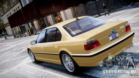 BMW 750i v1.5 для GTA 4 вид сверху