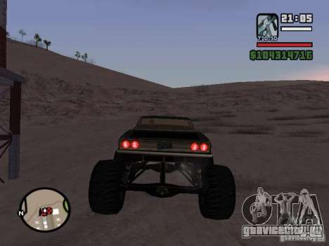 Monster Tampa для GTA San Andreas вид сзади слева