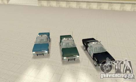 Plymouth Duster 340 Police для GTA San Andreas вид изнутри