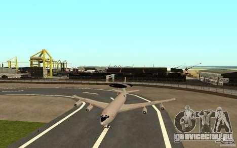 Boeing E-3 Sentry для GTA San Andreas вид сзади