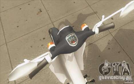 Honda Super Cub с повозкой для GTA San Andreas вид сзади