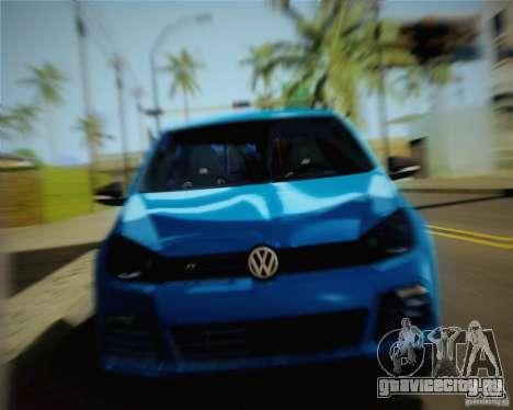 Volkswagen Golf R 2010 для GTA San Andreas вид сзади слева