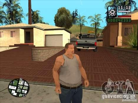 Белый Cj для GTA San Andreas четвёртый скриншот