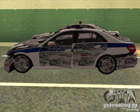 Mercedes-Benz E63 AMG W212 для GTA San Andreas вид сверху