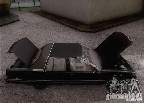 Buick Roadmaster 1996 для GTA San Andreas вид изнутри