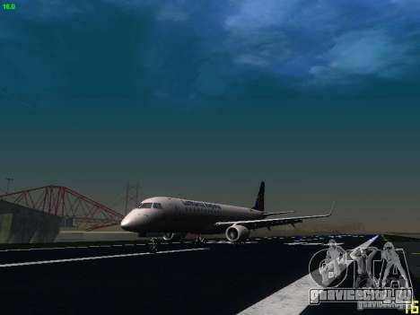 Embraer ERJ 190 Lufthansa Regional для GTA San Andreas вид слева