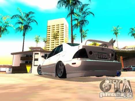 Toyota Altezza HKS для GTA San Andreas вид справа