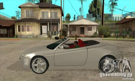 Alfa Romeo Spyder для GTA San Andreas вид слева