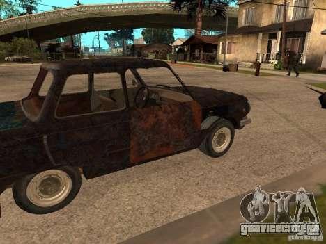 ЗАЗ-968 Заброшенный для GTA San Andreas вид справа
