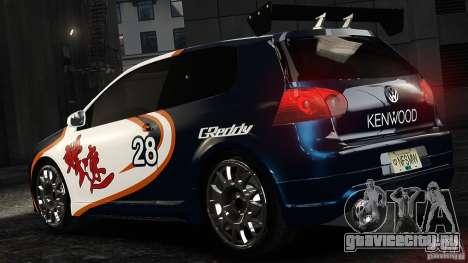 Volkswagen Golf V GTI Blacklist 15 Sonny v1.0 для GTA 4 вид слева
