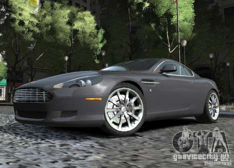 Aston Martin DB9 2008 v 1.0 для GTA 4 вид изнутри