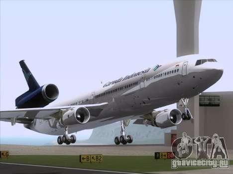 McDonnell Douglas MD-11 Garuda Indonesia для GTA San Andreas вид слева