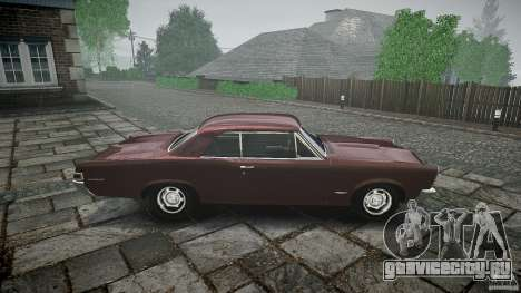 Pontiac GTO 1965 для GTA 4 салон
