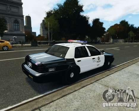 Ford Crown Victoria LAPD для GTA 4 вид сзади слева