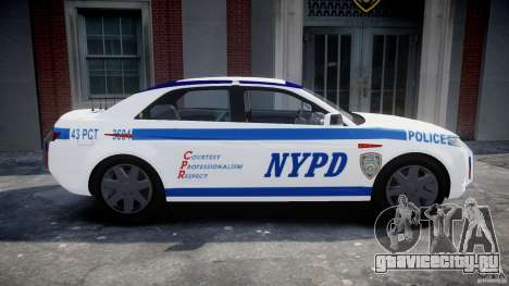 Carbon Motors E7 Concept Interceptor NYPD [ELS] для GTA 4 вид слева