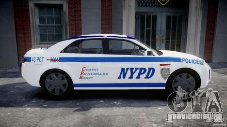 Carbon Motors E7 Concept Interceptor NYPD [ELS] для GTA 4 вид слева