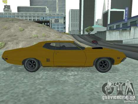 Ford Torino 70 для GTA San Andreas вид сзади слева