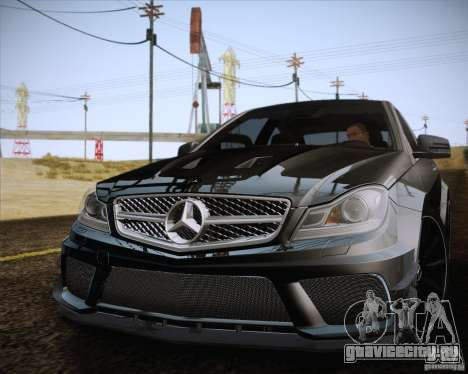 Mercedes-Benz C63 AMG Black Series для GTA San Andreas